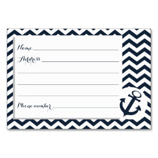 Nautical Zigzag Pattern Advice Cards