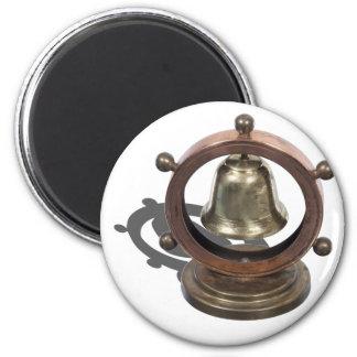 NauticalSteeringWheelBell052712.png 2 Inch Round Magnet
