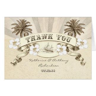 náutico gracias las invitaciones de boda del tarjeta pequeña