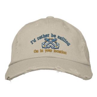 Náutico personalizada estaría navegando bastante gorras de béisbol bordadas