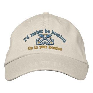 Náutico personalizada sería bastante canotaje gorra de beisbol bordada