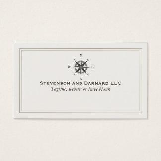 Náutico tradicional del logotipo del compás tarjeta de negocios
