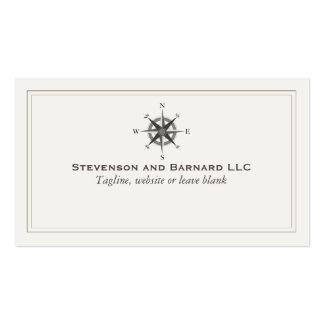 Náutico tradicional del logotipo del compás tarjetas de visita