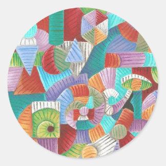 Nauticus Fibonacci Round Stickers