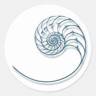 Nautilus 2 round stickers