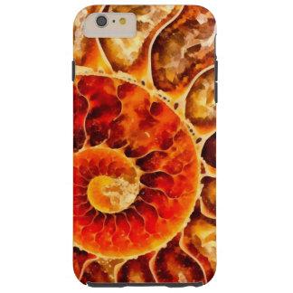Nautilus anaranjado funda para iPhone 6 plus tough
