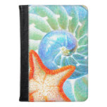 Nautilus And Starfish Kindle Case