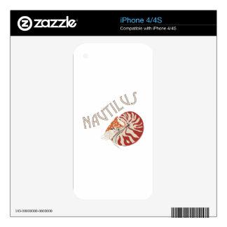 Nautilus Animal iPhone 4S Decals