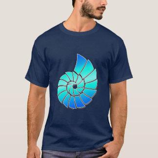 Nautilus azul brillante Shell Playera