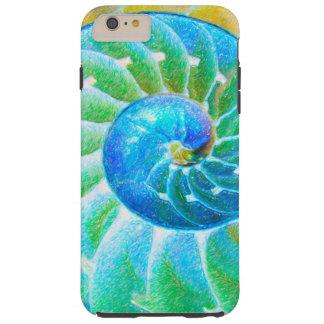Nautilus azul funda de iPhone 6 plus tough