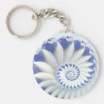 Nautilus azul llaveros personalizados
