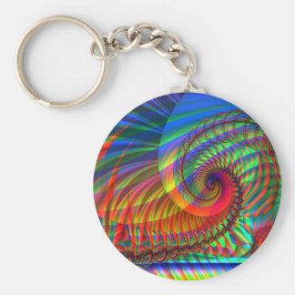 Nautilus Basic Round Button Keychain