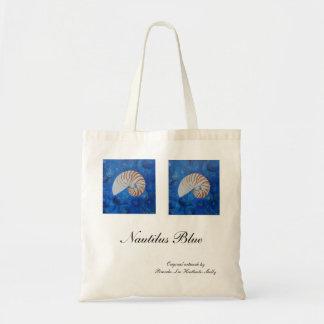 Nautilus Blue Budget Tote Bag