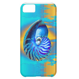 nautilus  blue/yellow sky cover for iPhone 5C