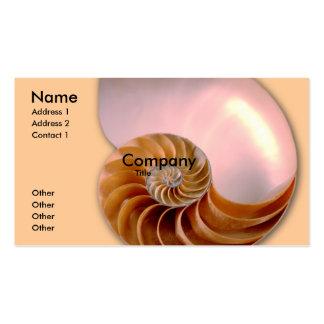 Nautilus compartimentado tarjetas de visita