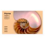 Nautilus compartimentado tarjetas personales