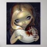 Nautilus de hadas gótico del ángel 2 de la IMPRESI Poster
