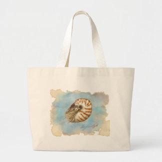 Nautilus de la historia natural bolsas lienzo