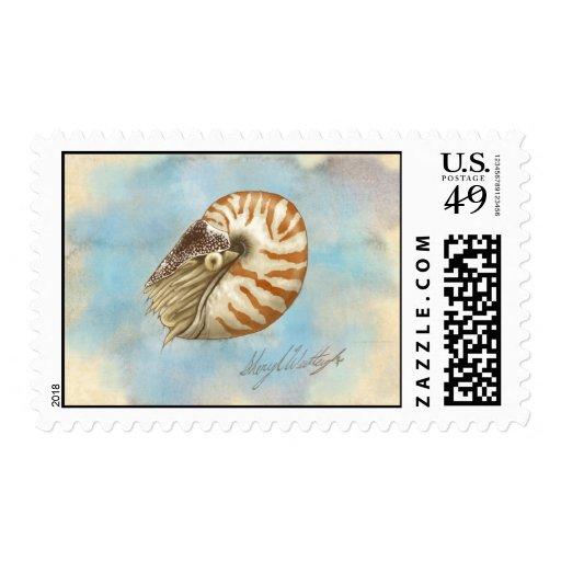 Nautilus de la historia natural sello
