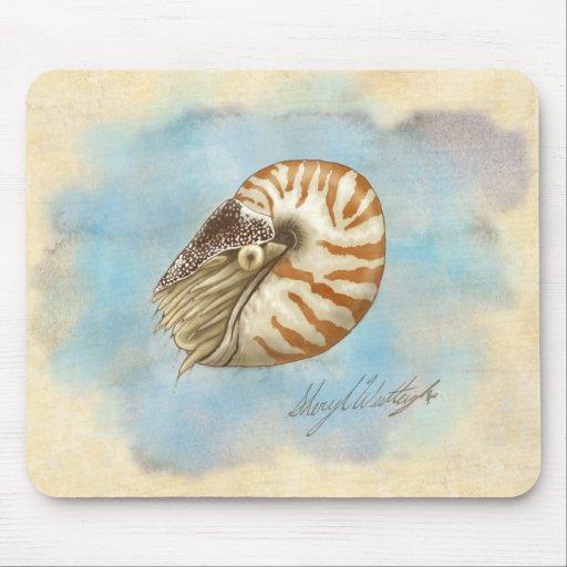Nautilus de la historia natural alfombrillas de raton