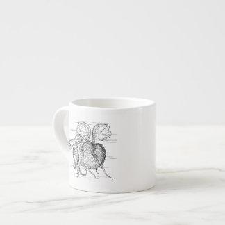 Nautilus Drawing Espresso Cup