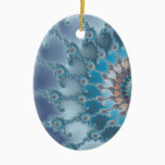 Nautilus - Fractal Art Ceramic Ornament
