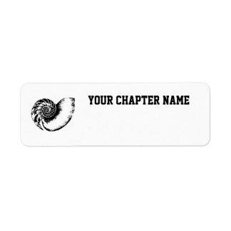 Nautilus Custom Return Address Label