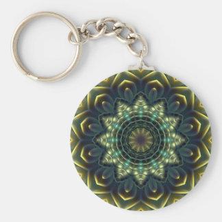 Nautilus Mandala 1 Basic Round Button Keychain