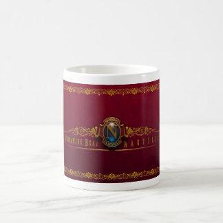Nautilus Mobilis In Mobile N Red by David McCaman Classic White Coffee Mug