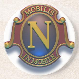 Nautilus N Shield by David McCamant Sandstone Coaster