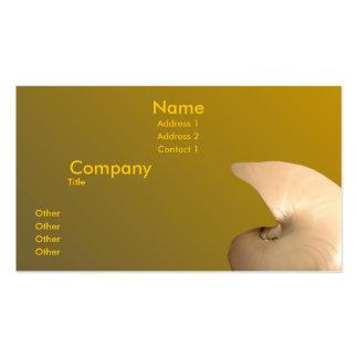 Nautilus nacarado tarjetas de visita
