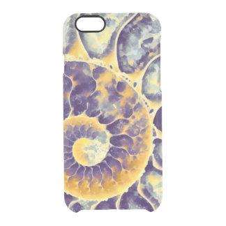 Nautilus poner crema púrpura funda clearly™ deflector para iPhone 6 de uncommon