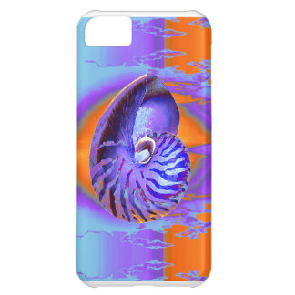 nautilus  purple/orange/blue cover for iPhone 5C