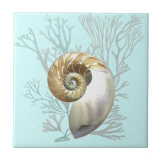 Nautilus & Seaweed Tile