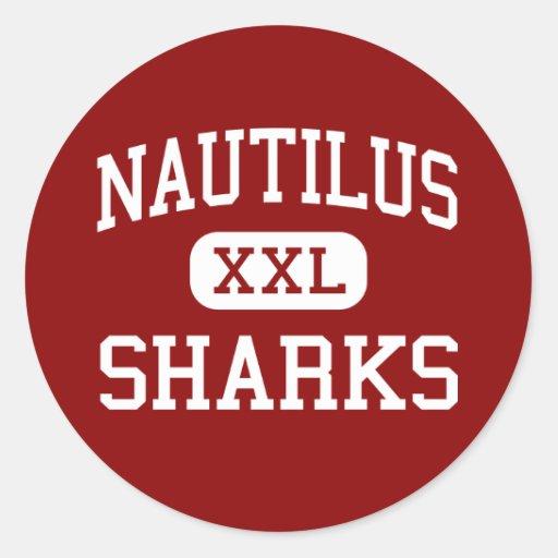 Nautilus - Sharks - Middle School - Miami Florida Classic Round Sticker