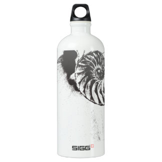 Nautilus shell 1 aluminum water bottle
