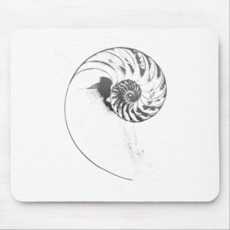 Nautilus shell 1 mouse pad