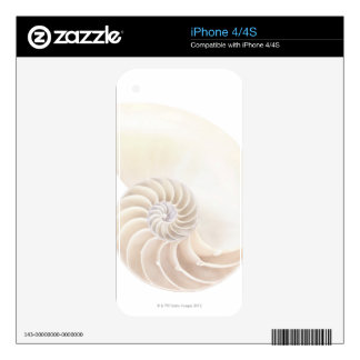 Nautilus shell, close-up skins for iPhone 4S