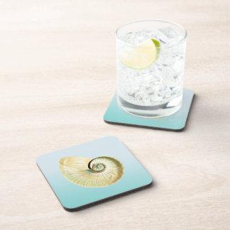 Nautilus shell drink coasters