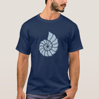 Nautilus Shell de los azules cielos Playera