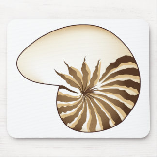 Nautilus Shell Drawing Mouse Pad