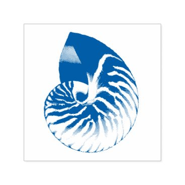 Nautilus Shell Illustration Self-inking Stamp