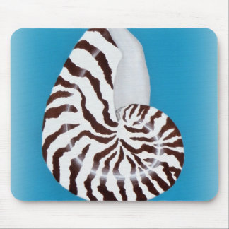 Nautilus Shell Mouse Pad