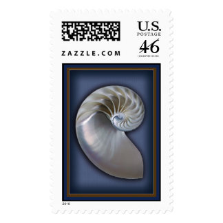 Nautilus Shell Vertical 2 Postage Stamp
