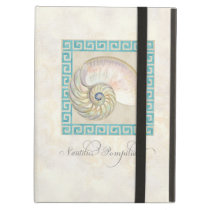 Nautilus Shell Watercolor Greek Key Damask Beach iPad Air Case