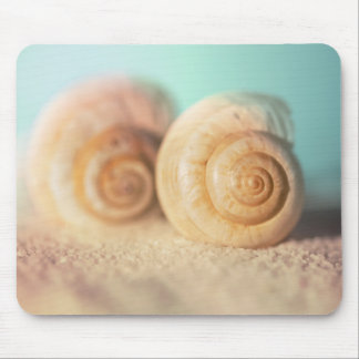 Nautilus Shells On Beach Mouse Pad