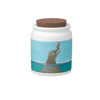 """Nautilus"" The Sea Lion Candy Jars"