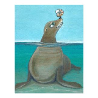 """Nautilus"" The Sea Lion Letterhead"