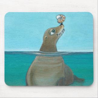 """Nautilus"" The Sea Lion Mouse Pad"