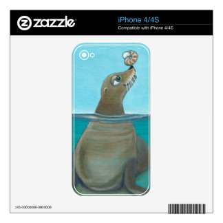 """Nautilus"" The Sea Lion Skin For The iPhone 4"